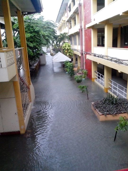 Flood in Guagua, north of Manila. Photo from Facebook page of The College Mirror