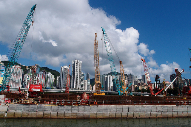 Land Reclamation in Hong Kong. Photo from Urban Diary. Permission to use.