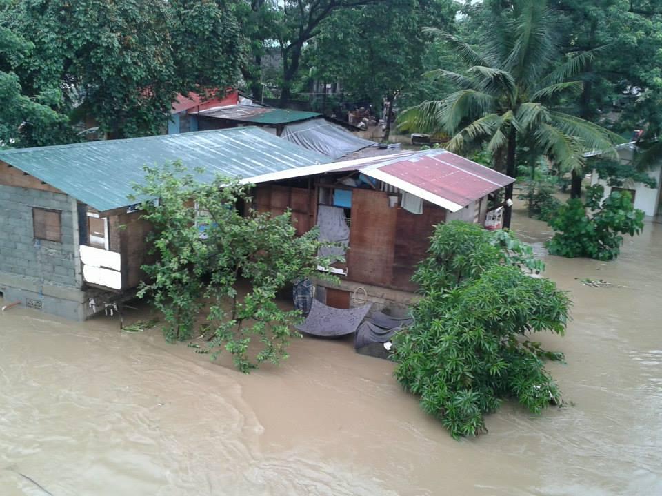 Flood in Marikina, east of Manila. Photo from Facebook page of Prospero De Vera