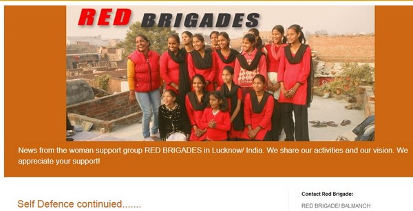 The Red Brigade girls. Screenshot from Red Brigades Blog