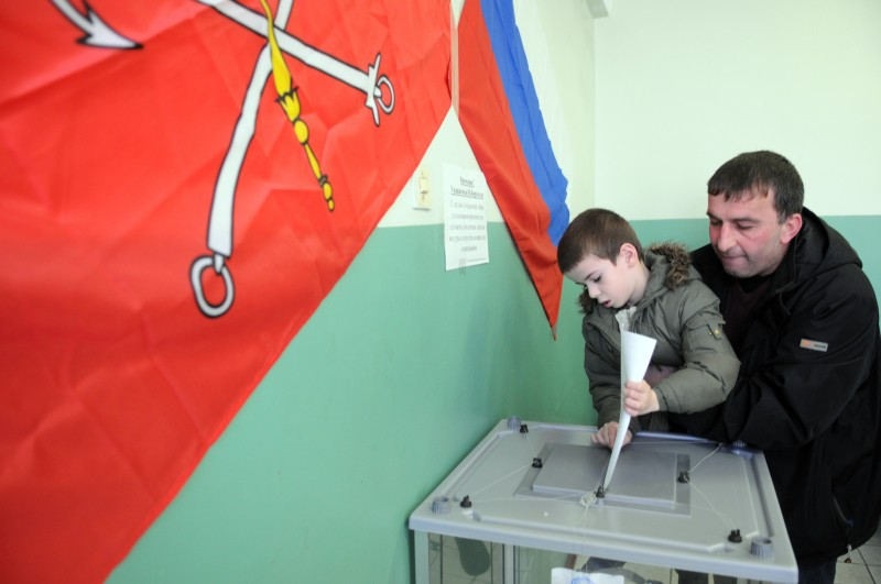 Russia president's election in St. Petersburg