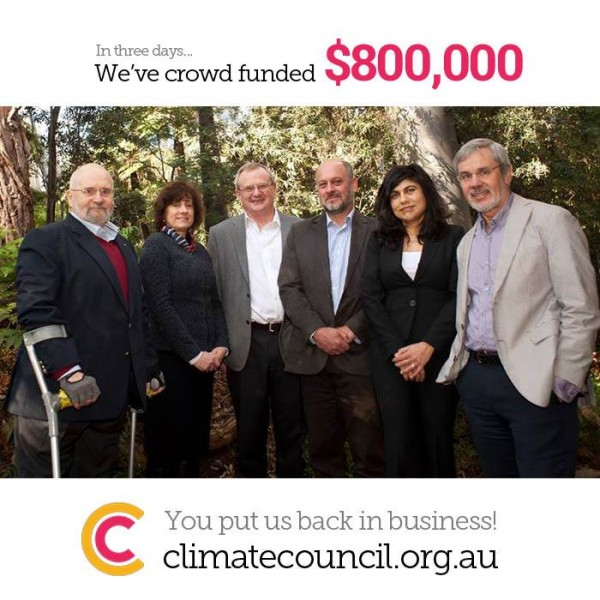 Climate Council Facebook update 28 Sep 2013