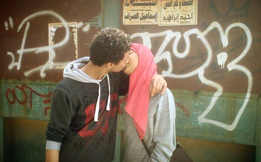 Two young lovers kiss on the street in Egypt, shared by Ahmed ElGohary  https://www.facebook.com/photo.php?fbid=10151429894938231&set=a.10151035748418231.432064.669983230&type=1&theater