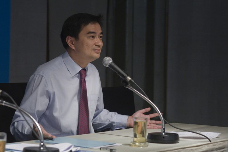 Thailand's Former Prime Minister Abhisit Vejjajiva. Image from Flickr (CC BY 2.0)