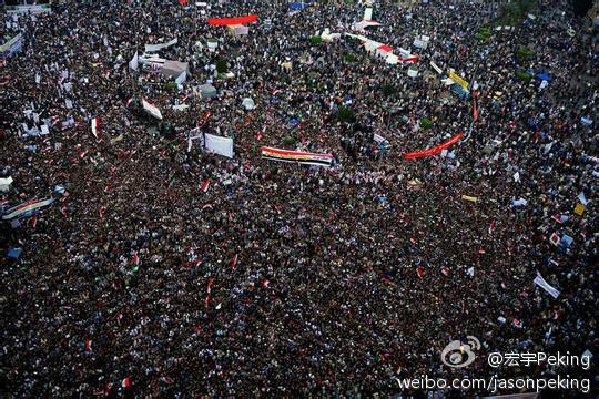 A picture of Egypt's Tahrir Square, deleted from Sina Weibo (via Freeweibo/Fair Use) -