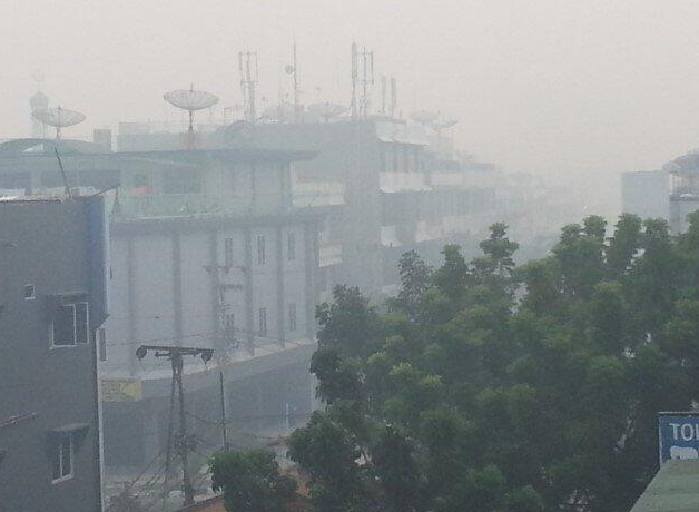 Haze in Sumatra. Photo by @jgblogs