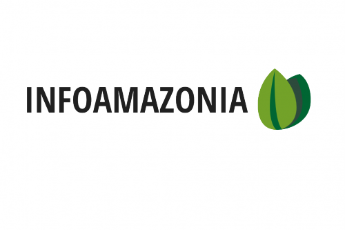 InfoAmazonia logo. Follow them on Twitter for updates: @InfoAmazonia.
