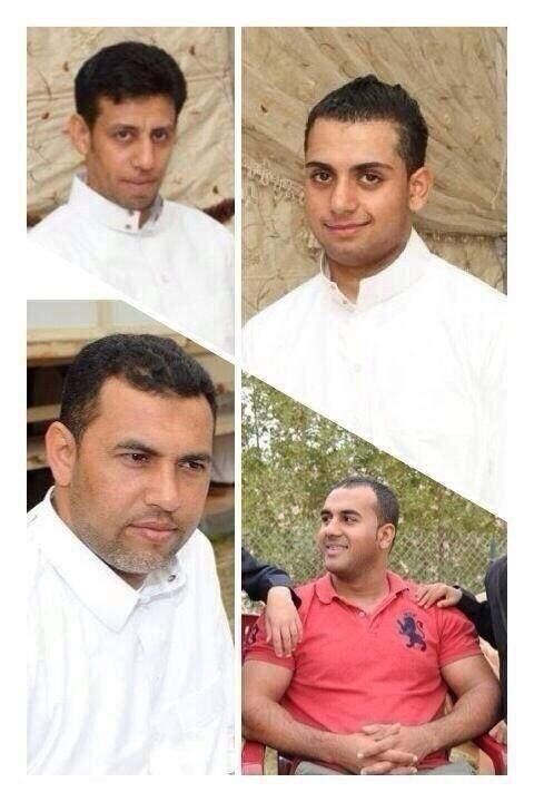 The four Qatif young men. Al-Qattan is top right.