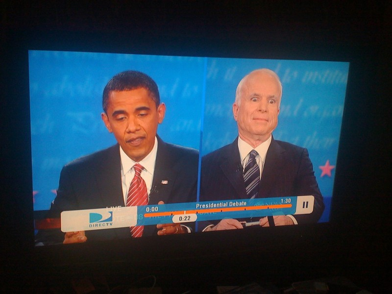 McCain debates Obama. 16 October 2008. Photo by Travis Crawford, CC 2.0.