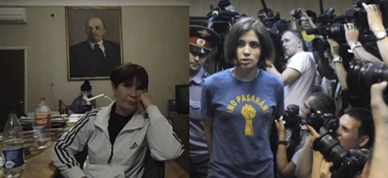 Grebeniuk, left, and Tolokonnikova, right.