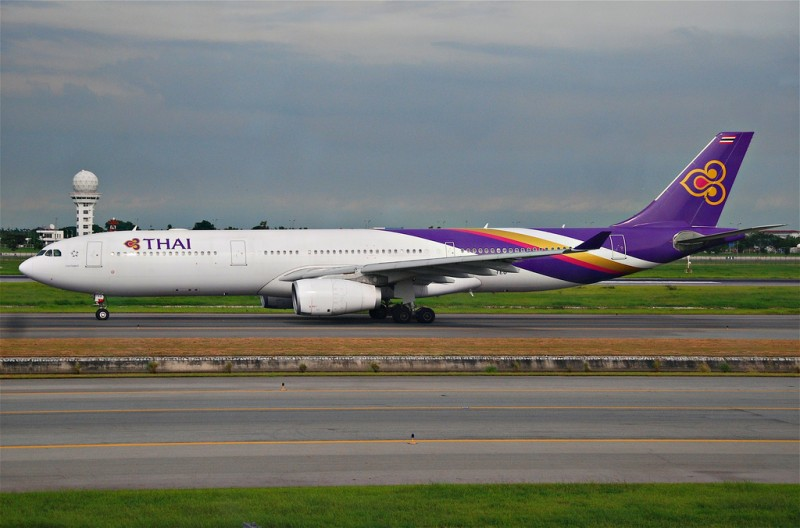 An Airbus Thai Airways plane. Image from Flickr user Aero Icarus, (CC BY-SA 2.0)