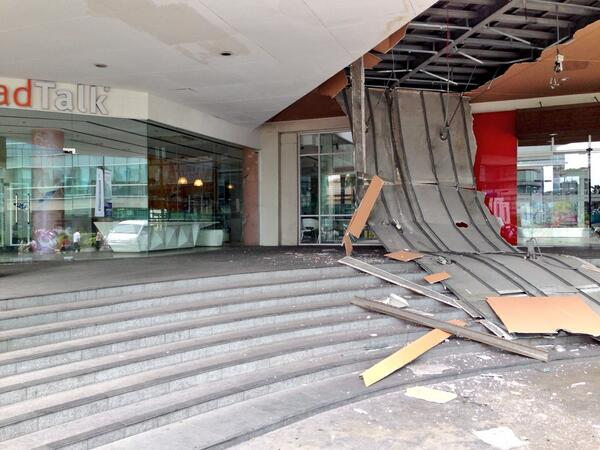 @randelltiongson: Damaged by the earthqauke here in Ayala Center Cebu pic.twitter.com/TSJhUNl8f1
