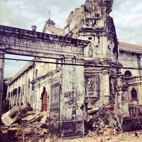 @KaiizenM More photos of damaged buildings.I do not own anything. #Cebu http://twitpic.com/dhe9nh