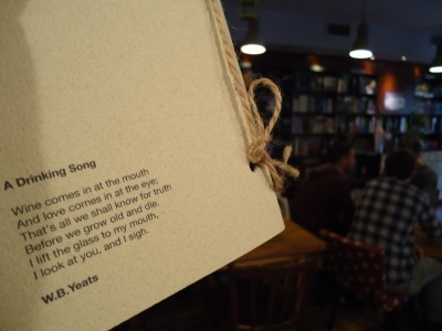 The Dit' e Nat' café celebrating the Irish poet Yeats