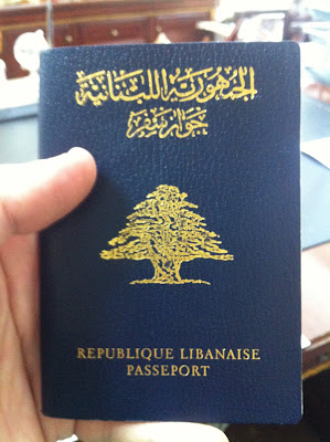 A Lebanese Passport.. one of the worst 10 passports to hold. Photo credit: Blogger Ali Sleeq