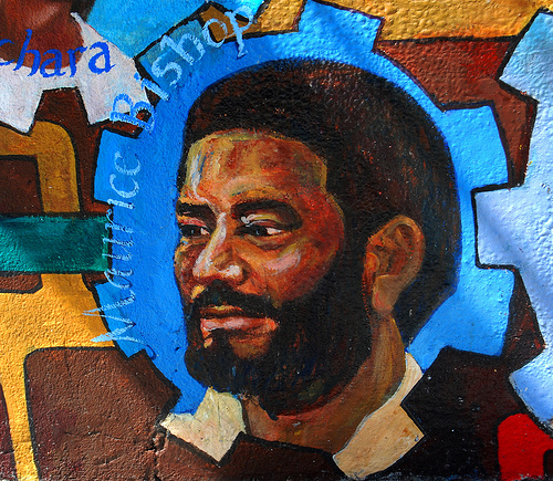 Painting of Maurice Bishop; photo by Paul Lowry.