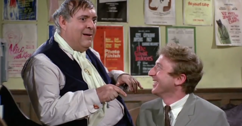 """The Flop Scheme"" from Mel Brooks' 1968 classic, The Producers. Where Leo Bloom realizes that a producer can potentially make more money with a flop than a hit. Screenshot from YouTube."