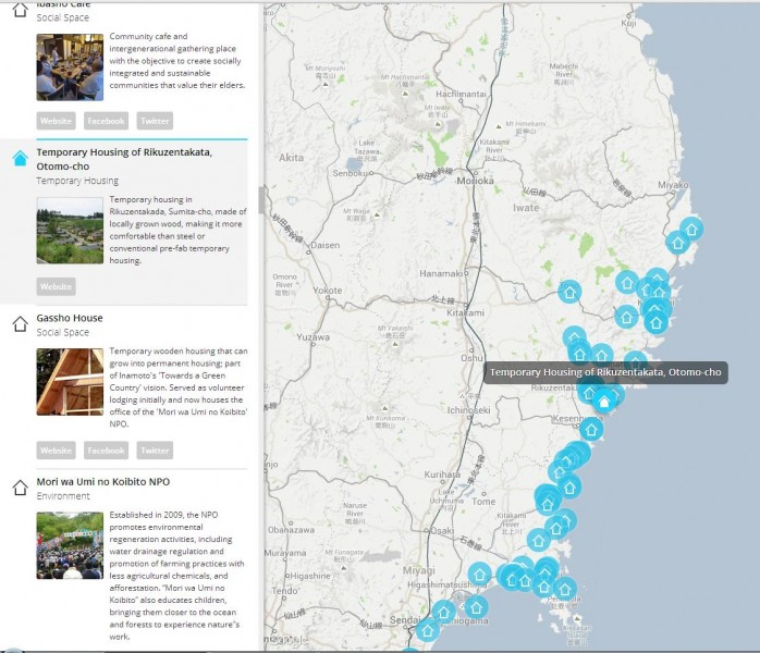 Map of Tohoku projects