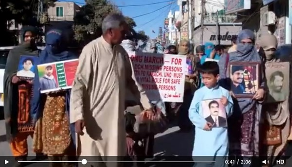 #VBMPLongMarch Screenshot from Video by International Voice for Baloch Missing Persons