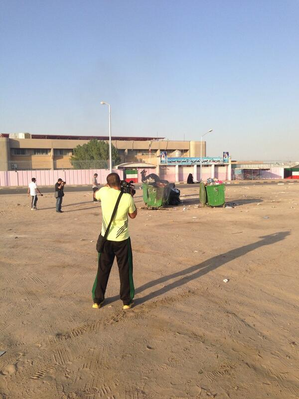 """@s_alshmmari: the police department's cameramen set fire to the garbage and videotape it to blame the bedoon for this act."""
