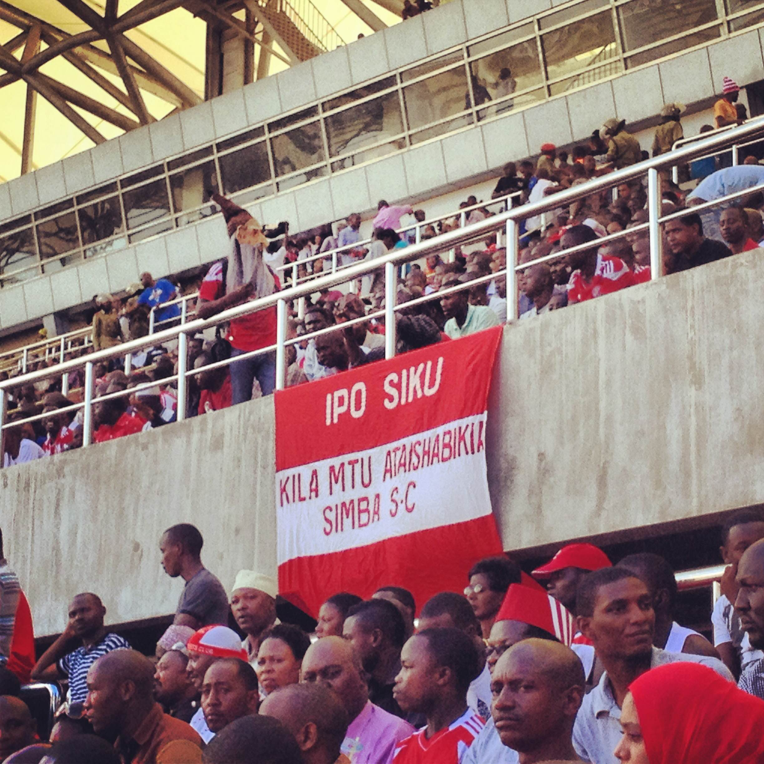 """One day, everyone will be Simba SC's supporter."" Photo by Omar Mohammed"