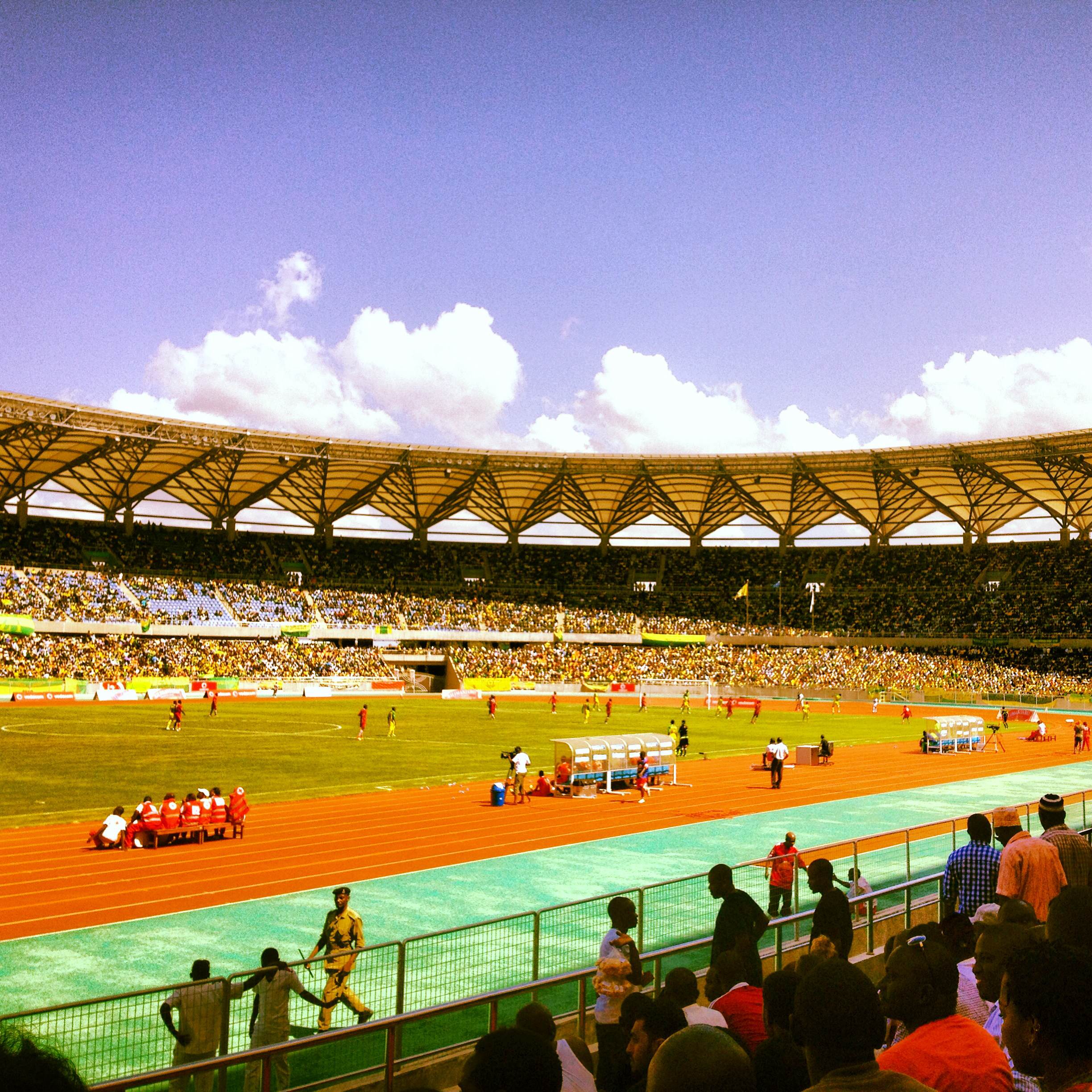 The Benjamin Mkapa National Stadium in Dar es Salaam, Tanzania. Photo by Omar Mohammed
