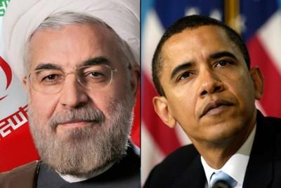 President Hassan Rouhani and President Barack Obama. Via Iran-emrooz.net