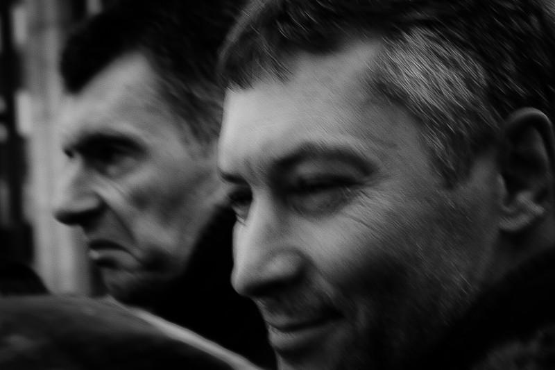 Evgeny Roizman (right) and Mikhail Prokhorov (left), 24 December 2011, photo by johnnnyick, CC 2.0.
