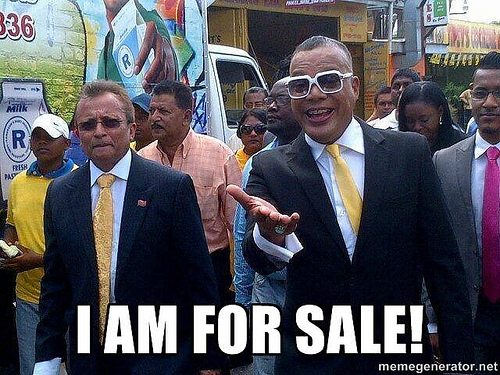 One of the Internet memes criticizing Ian Alleyne's decision to contest the St. Joseph seat for the People's Partnership.