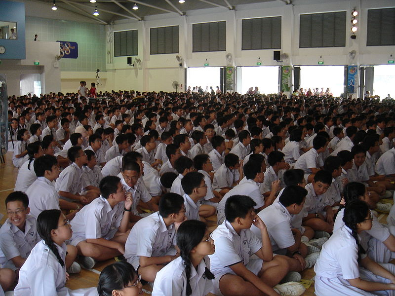 Singapore students of Nan Hua High School. Photo from Wikipedia.