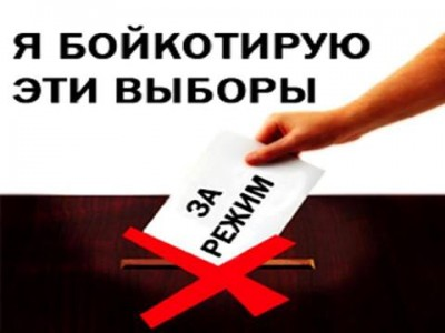 "Daler Boy posted this image on Platforma. It reads, ""I boycott these elections"". Image is used with permission."