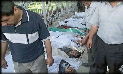 "Torture is widely used in Uzbekistan, according to several recent reports. Screenshot from video ""Massacre in Uzbekistan (Trailer)"" uploaded on YouTube by Mulberry Media on July 13, 2012."