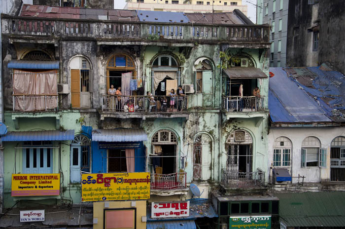 A building in Yangon, 2012