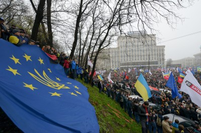 Tens of thousands of Ukrainians join #Euromaidan protests in Kyiv on Nov. 24, 2013; photo by Ivan Bandura, used with permission.