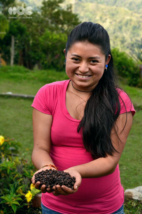 """Carmen Lorena grew up on a coffee plantation estate about three hours from Bogotá but she thinks the city-life is not for her, she prefers the countryside where she will stay after finishing her studies.""  Photo by Mauricio Romero., used with permission."