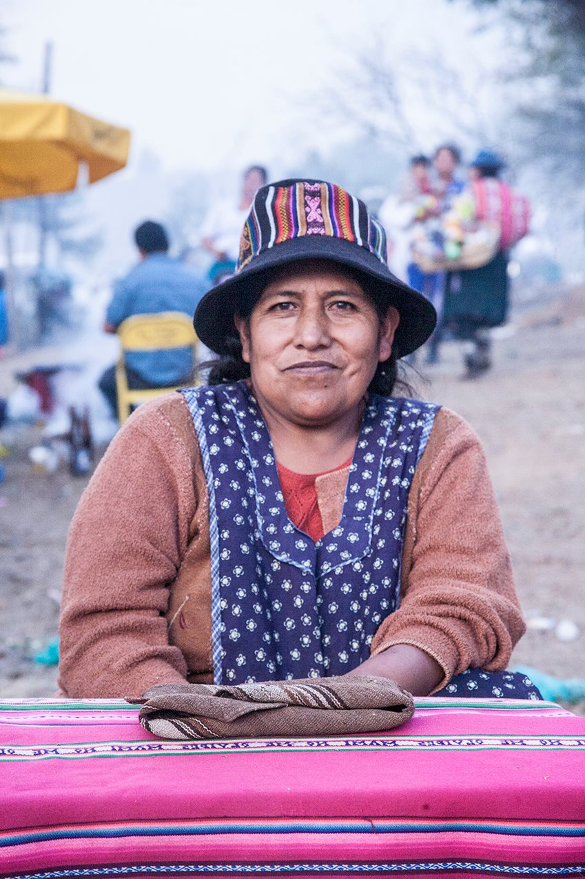 """There are not many amauta women, it's hard to be one, but I am. Now I'm part of the union"". Photo by Mijhail Calle, used with permission."