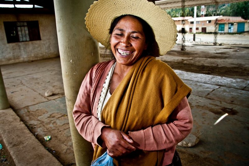 """She laughed, laughed and laughed while she waited for interprovincial transportation. Tiraque - Cochabamba"". Photo by Mijhail Calle for Humans of Bolivia."