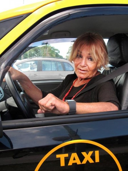 """-I can't believe it! A woman cab driver! -Of course, do you think that women can't be taxi drivers? It's time to stop being surprised when women do things that aren't common for their gender, there ain't things for men or women."" Photo by Jimena Mizrahi, used with permission."