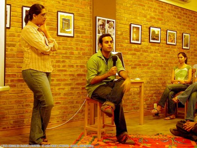 Sabeen Mahmud (co-founder of PFA) and Ziad Zafar
