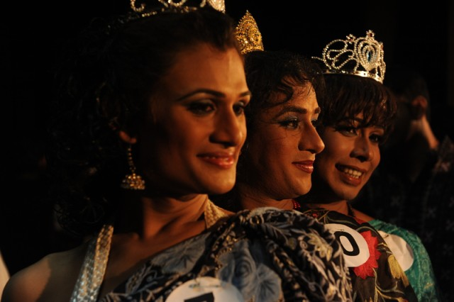 Hijras in beauty contest. Photo taken by Mohammad asad. Copywright: Demotix (18/11/2011)