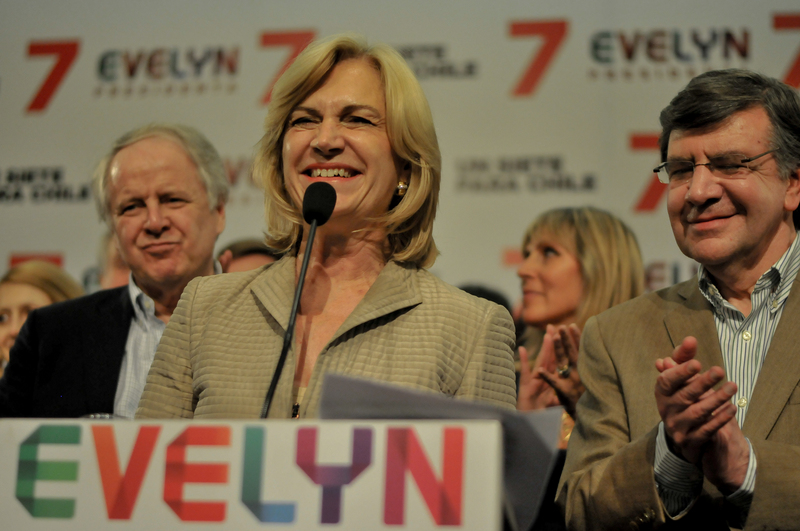 Conservative candidate Evelyn Matthei will face Michelle Bachelet in a runoff vote on December 15, 2013. Photo by Fernando Lavoz, copyright Demotix