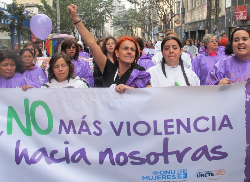 Women of Latin America and the Caribbean took to the Streets of Bogota on the the 12th International Feminist Meeting in 2011 to demand an end to violence against women and girls. Photo from Flickr user Say NO - UNiTE  (CC BY-NC-ND 2.0)