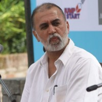 Editor-In-Chief of Tehelka Magazine Tarun J Tejpal during a session of the Literary Festival in Lalitpur. Image by Sunil Sharma. Copyright Demotix (17/9/2011)
