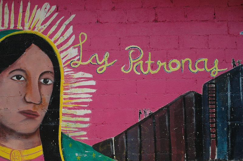O mural de Las Patronas. Foto de Dawn Paley na casa de Las Patronas, Amántlan, Veracruz. Imagem ao abrigo da licença Creative Commons (CC BY-NC-SA 2.0)