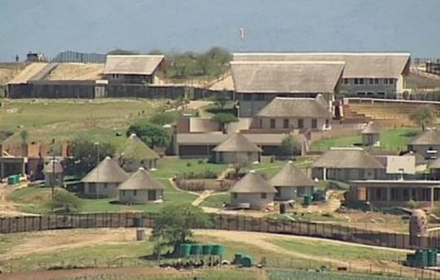 Zuma's house displayed as a cover photo on ...Facebook page.
