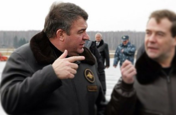 (Now Former) Defense Minister Anatoly Serdyukov, Nizhniy Novgorod, Russia, 25 November 2010, photo by Kremlin press service, public domain.