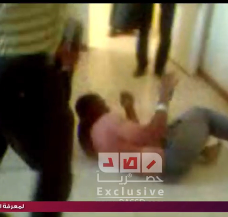 A screen grab from RASSD's exclusive video showing a man being tortured at a police station in Egypt