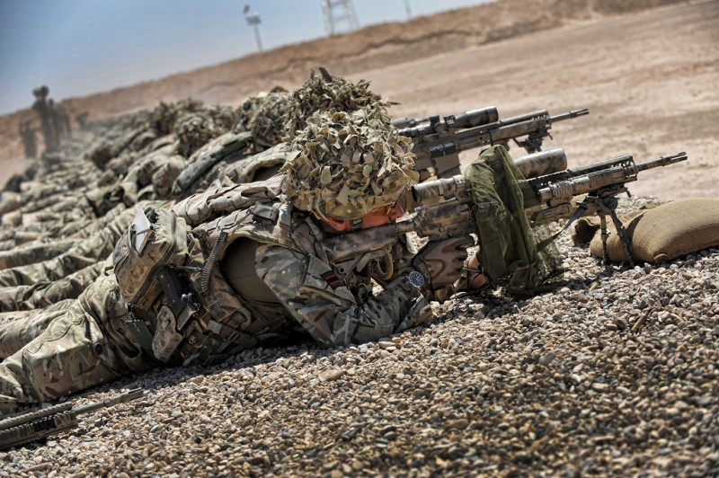 Soldiers hone their skills on the range.
