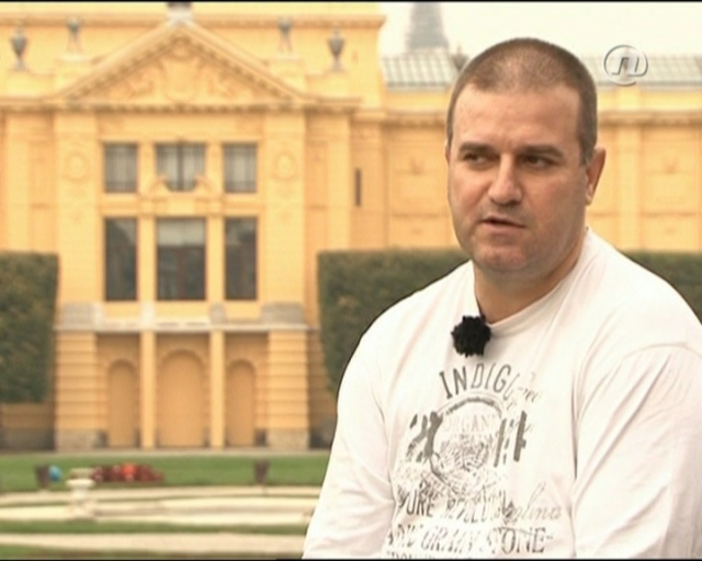 Still image of Zoran Bozinovski from an interview with Croatian Nova TV.