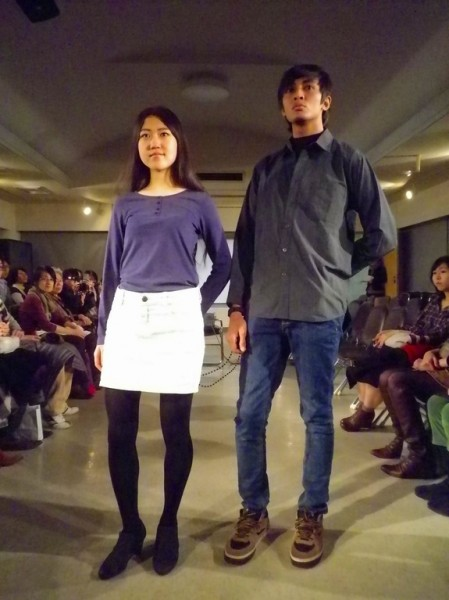 Image from last year's fashion show. The two models look like
